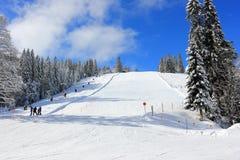 Esquí en Feldberg Bosque negro, Alemania Fotografía de archivo