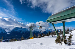 Esquí en Lake Louise en Canadá Fotos de archivo