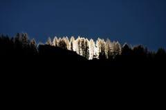 Esquí en las montañas suizas Imagen de archivo libre de regalías