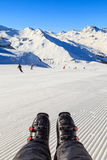 Esquí en las montan@as Fotos de archivo libres de regalías