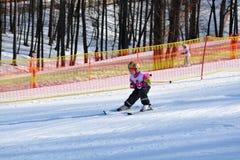 Esquí en las montan@as Imagen de archivo