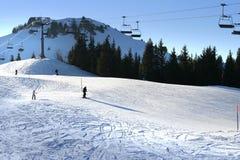 Esquí en las montan@as Imagen de archivo libre de regalías