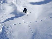 Esquí en nieve del poweder Imagen de archivo libre de regalías