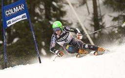 ESQUÍ: Eslalom alpestre del gigante de Alta Badia de la taza de mundo del esquí imagen de archivo libre de regalías