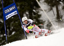 ESQUÍ: Eslalom alpestre del gigante de Alta Badia de la taza de mundo del esquí Fotografía de archivo libre de regalías