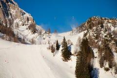 Esquí - esquí alpestre fotografía de archivo