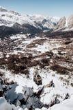 Esquí Faloria en el ` Ampezzo de la cortina D en invierno Fotografía de archivo libre de regalías