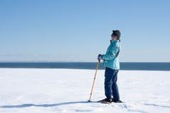 Esquí nórdico de la mujer Imagen de archivo libre de regalías