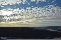 Esquí nublado Foto de archivo