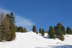 Esquí y las montañas Foto de archivo libre de regalías