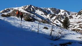 Esquíe en las montañas de Soldeu, Andorra Fotos de archivo libres de regalías