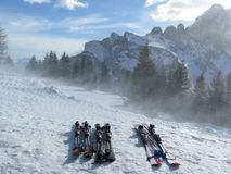 Esquís Foto de archivo
