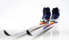Esquís del país cruzado Fotos de archivo libres de regalías