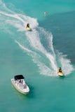 Esquís tropicales del jet Imágenes de archivo libres de regalías
