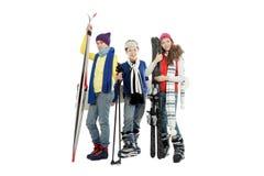 Esquís y snowboard Imagen de archivo libre de regalías