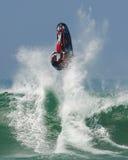 Esquí del jet en las ondas Foto de archivo libre de regalías