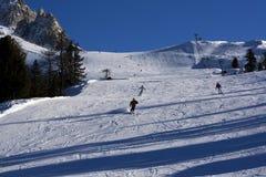 Esquí en dolomía Foto de archivo