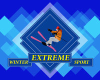 Esquí extremo. Fotos de archivo