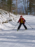 Esquí nórdico - niño Imagen de archivo libre de regalías