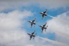 Esquadrão da demonstração do ar do U.S.A.F. Imagens de Stock Royalty Free