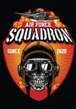 Esquadrão piloto da força aérea ilustração do vetor
