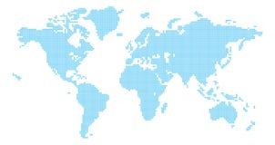 Esquadra o mapa de mundo Fotografia de Stock Royalty Free