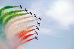 Esquadr?o aerobatic de It?lia Fotos de Stock Royalty Free