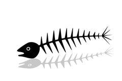 Esqueleto abstracto de los pescados Imagen de archivo