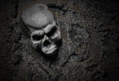 Esqueleto asustadizo malvado de Víspera de Todos los Santos Fotos de archivo