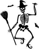 Esqueleto de la bruja Foto de archivo libre de regalías