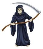 Esqueleto de la muerte del parca ilustración del vector