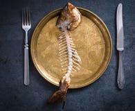Esqueleto de los pescados Imagenes de archivo