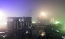 Esqueleto de un alto edificio de la subida bajo construcción Fotografía de archivo