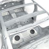 Esqueleto de un coche en blanco ilustración 3D Imagen de archivo