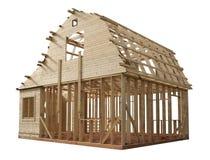 Esqueleto de una casa de madera Fotos de archivo