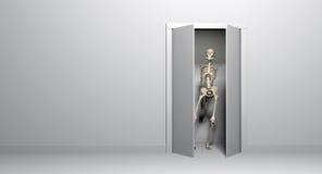 Esqueleto del armario stock de ilustración