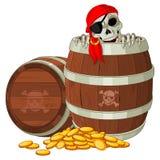 Esqueleto del pirata Imagen de archivo libre de regalías