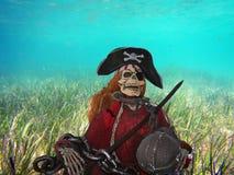 Esqueleto del pirata Fotografía de archivo libre de regalías