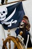 Esqueleto del pirata Imágenes de archivo libres de regalías
