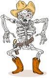 Esqueleto del vaquero Fotos de archivo