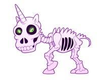 Esqueleto do unicórnio ilustração stock