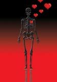 esqueleto do Valentim   Ilustração Stock