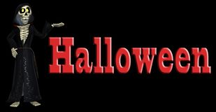 Esqueleto dos desenhos animados de Halloween Imagem de Stock Royalty Free