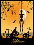 Esqueleto en Halloween Fotografía de archivo