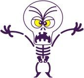 Esqueleto furioso de Halloween que es asustadizo ilustración del vector