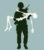 Esqueleto levando do soldado Foto de Stock