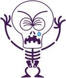 Esqueleto lindo de Halloween que llora y que solloza ilustración del vector