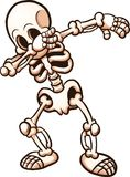 Esqueleto que frota stock de ilustración