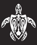 Esqueleto tribal da tartaruga ilustração stock