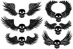 Esqueletos cons alas libre illustration